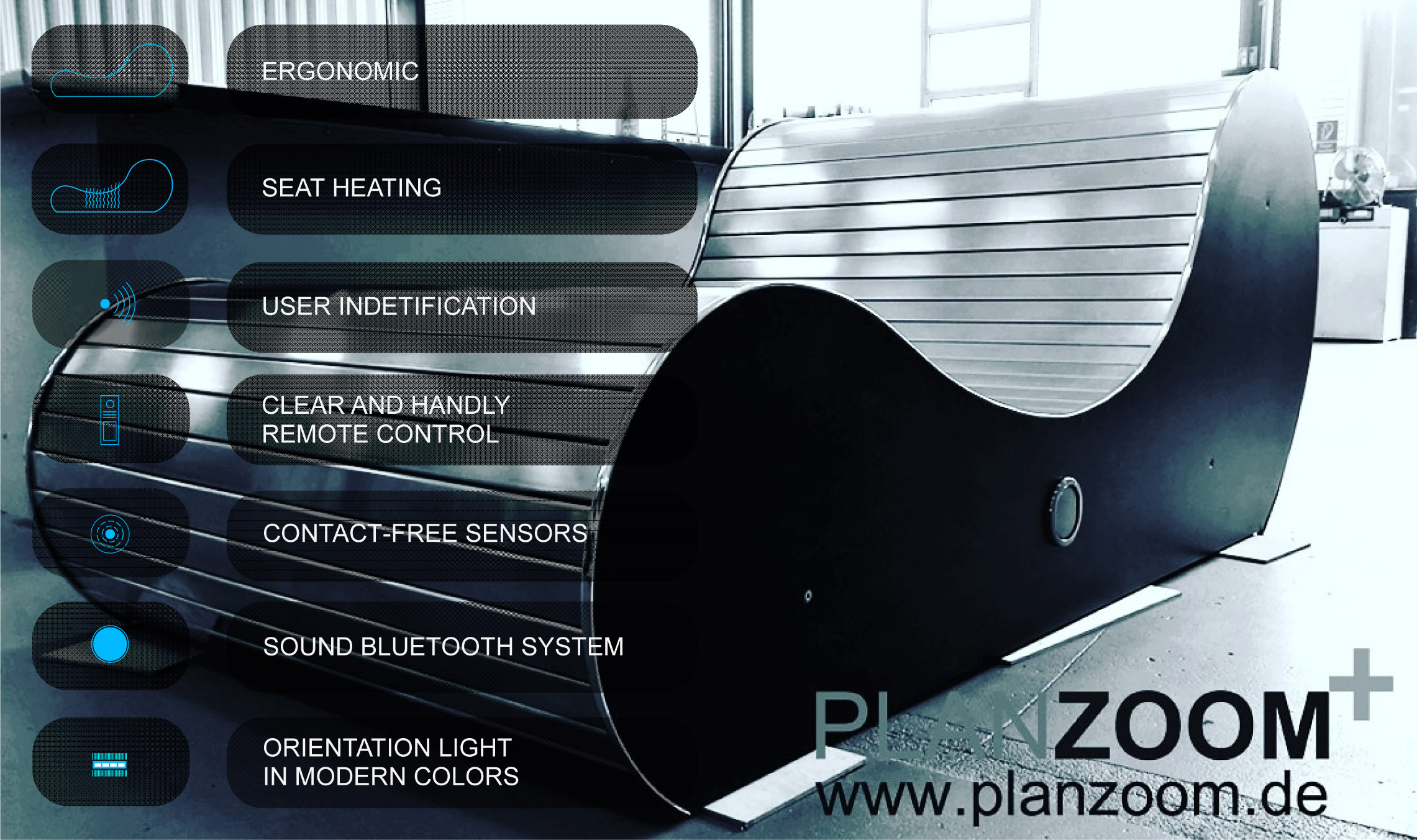 ZENZOOM luxury lounger functions